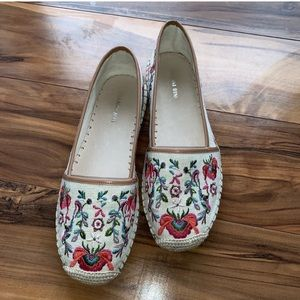 Gianni Bini floral embroidered Slip-on espadrille